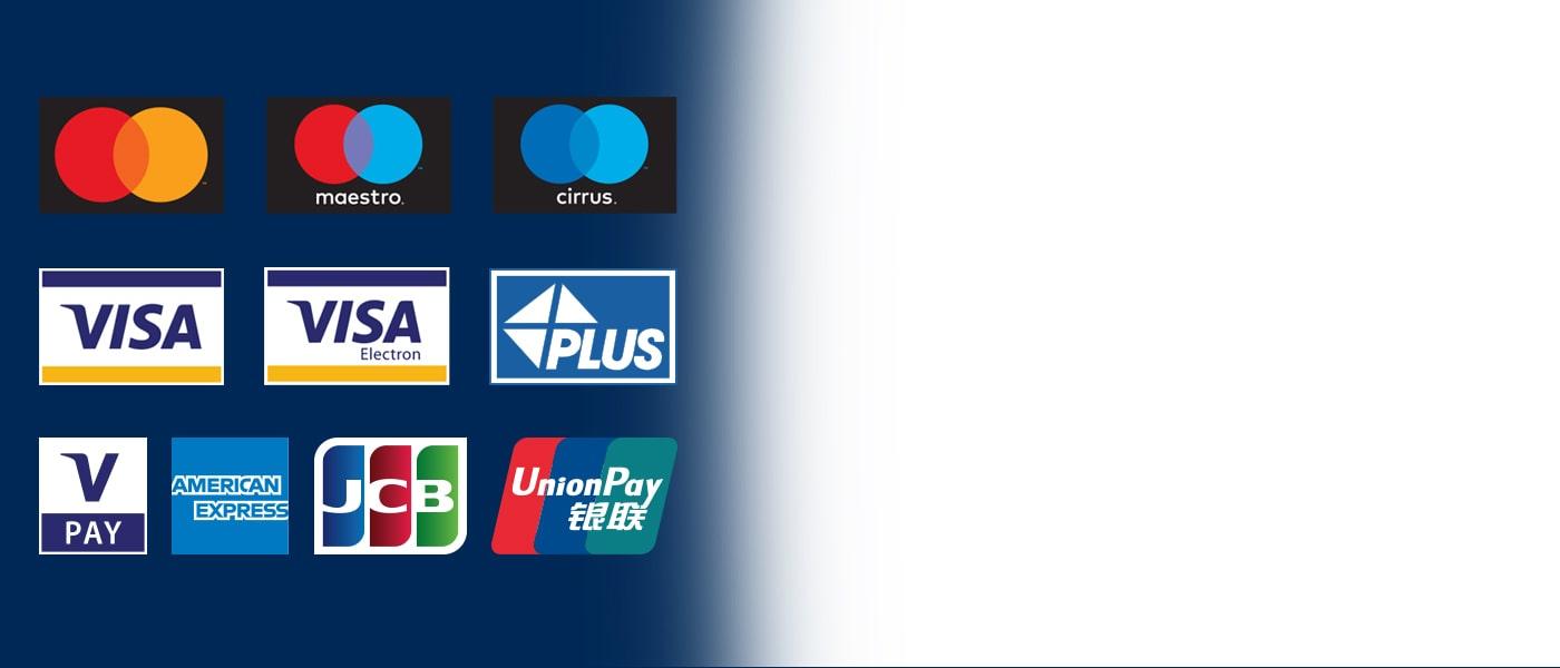 ATM-urile Euronet accepta marea majoritate a cardurilor.